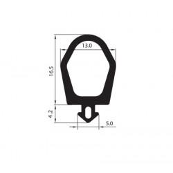 Uszczelka okienna EPDM do profili aluminiowych, 12-826