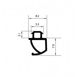 Uszczelka okienna EPDM do okien PCV S-1693, 12-831
