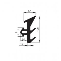 Uszczelka okienna EPDM do okien PCV S-171, 12-832