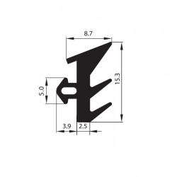 Uszczelka okienna EPDM do okien PCV S-229, 12-836