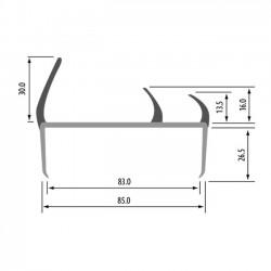 Uszczelka drzwi PVC 83 mm L-2500 mm 15-427-1