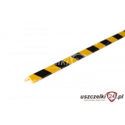 Profil ochronny PU żółto-czarny z klejem, odbój 013015