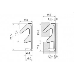 Uszczelka drzwi drewnianych brązowa QLON, 014804