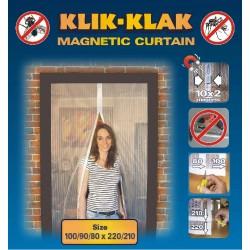 Moskitiera magnetyczna czarna 100/90/80 x 220/210, 046800
