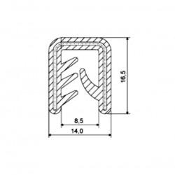 Uszczelka krawędziowa, zaciskowa, czarny silikon 067063