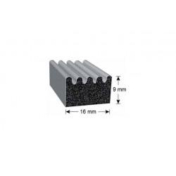 Uszczelka EPDM komórkowe 9x16 mm z taśmą klejącą 3M, 07939