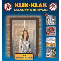 Moskitiera magnetyczna czarna 100/90/80 x 220/210, 039799-C