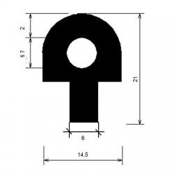 Uszczelka silikonowa, termiczna grzybek, 023408