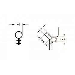 Uszczelka renowacyjna fi 6 mm, brązowa, 09-777-01
